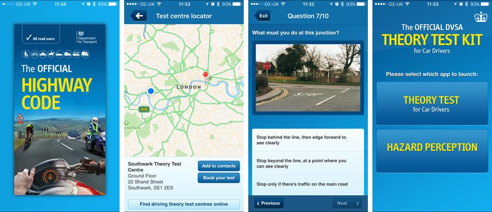 DVLA Theory Test Kit App Screenshots