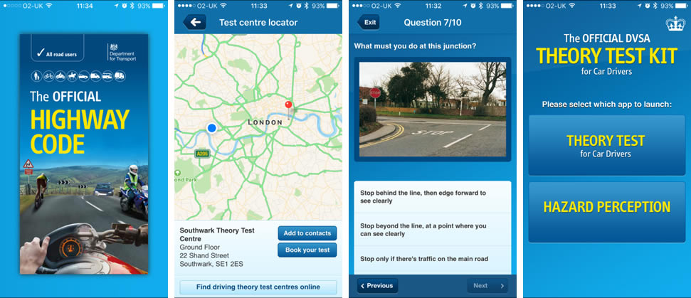 DVLA Theory Test Kit App Screenshots